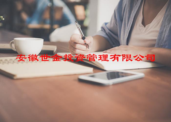 注册投资管理公司:安徽世金投资管理有限公司