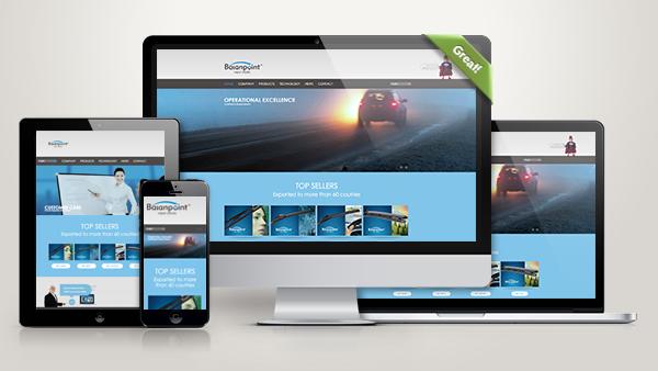 宁波平衡点汽车配件品牌网站建设